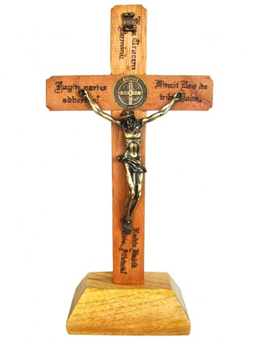 Crucifíxo de Parede com base - 30 cm