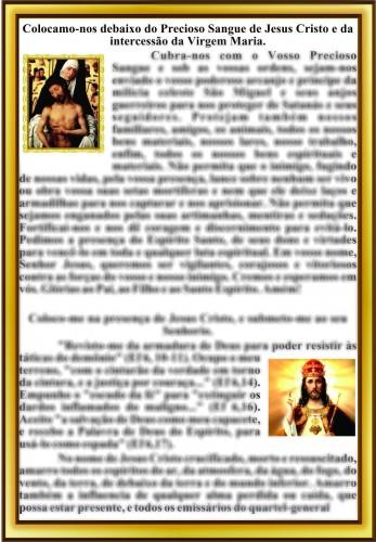 Colocamo-nos debaixo do Precioso Sangue de Jesus Cristo e da intercessão da Virgem Maria