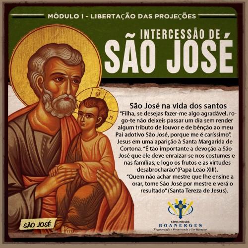 MÓDULO I - LIBERTAÇÃO DAS PROJEÇÕES Intercessão de São José