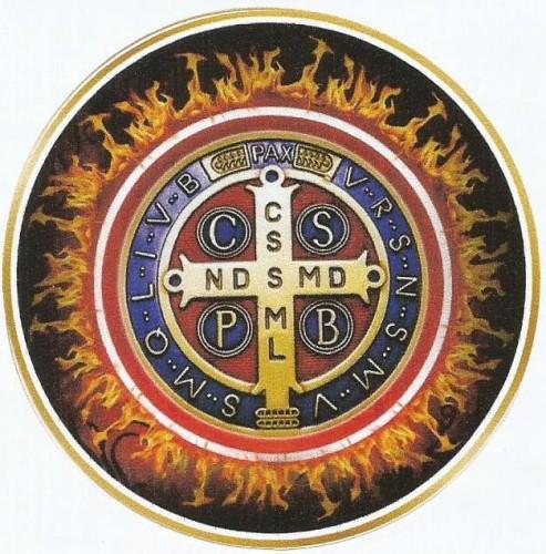 Adesivo Medalha de São Bento - fogo