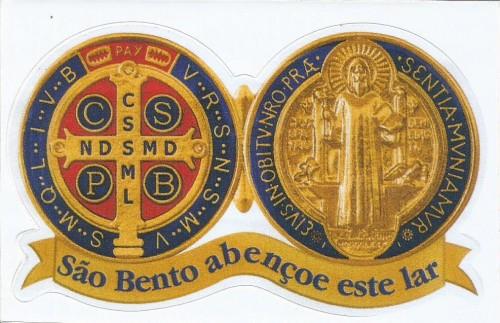 Adesivo Medalha de São Bento - Lar