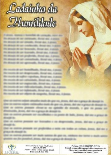 Oração - Ladainha da Humildade