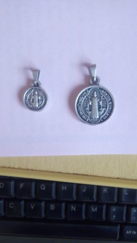 Medalha de São Bento Prata Velha
