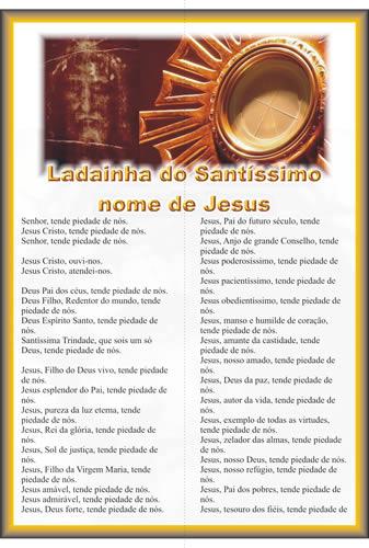 Ladainha do Santíssimo Nome de Jesus